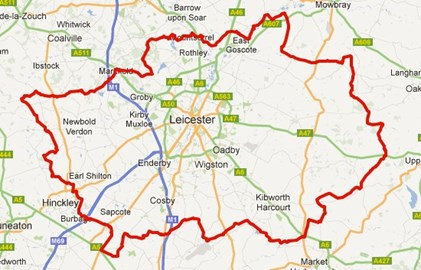 Leicestershire Round route