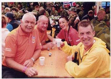 Anisa, Ed, Jim and Ronnie taking a break