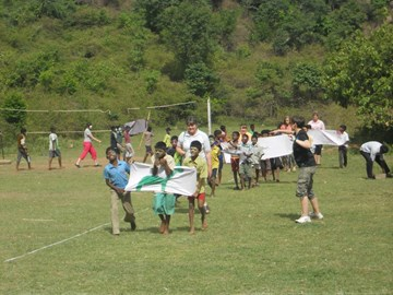 sports day with boys from YMCA orphanage