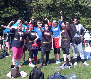 Team MBA at last year's Charity Superhero Run!