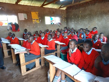 Children in class at World In Need's school in Kenya