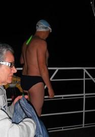 3rd swim 9.10pm- getting closer!