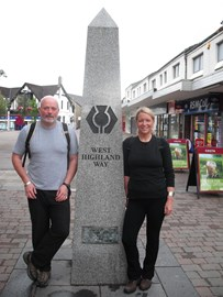 Start West Highland Way Noni and Alan