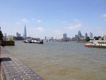 Start of the walk. Tower Bridge so far away!!