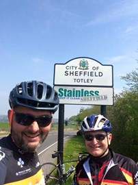 Quick photo stop at the 50 mile mark on a training ride!