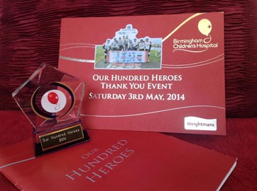BCH 100 heros, Team Spirit raised over £8,000 in 2013