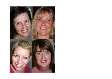 The Team; Helen, Audra, Debs, Annemarie