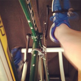 My first Turbo Training session last weekend at home in front of the television!