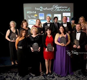 Free2Network Business Awards 2014 Winners with Nina Sardar & Saira Khan