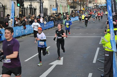 Coming to the end of the London Winter Run (10k)