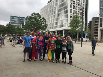 The Marick team ahead of the Great Manchester 10k