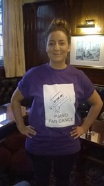 Jenny Rylance modelling the PFD Tee Shirt