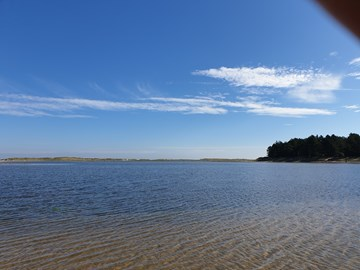 Holkham Bay on a practice day