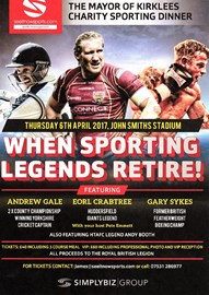 Mayor's Sporting Legends Dinner