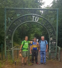 Walking the northern loop of the TPT with companions Dave and John from Emmaus Leeds