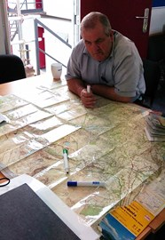 Andy Stamford planning our route!
