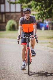 Frank on a bike