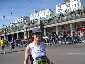 My first ever marathon last year in Brighton
