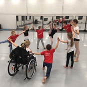 Ballet Cymru's weekly Inclusive Youth Creative Dance Sessions held at Ballet Cymru's studios