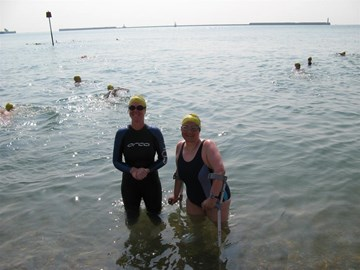 Me & my swim buddy Eleanor training in Dover