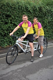 First time on a tandem