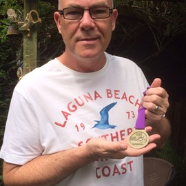 Proud to show my finishers medal