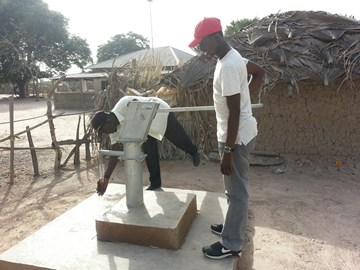 Borehole created by Water for Africa