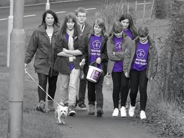 Us on the walk! From left My Mum (Lisa) Me Alex Sarah Hannah Hollie Abbie And of course dinks the dog!!