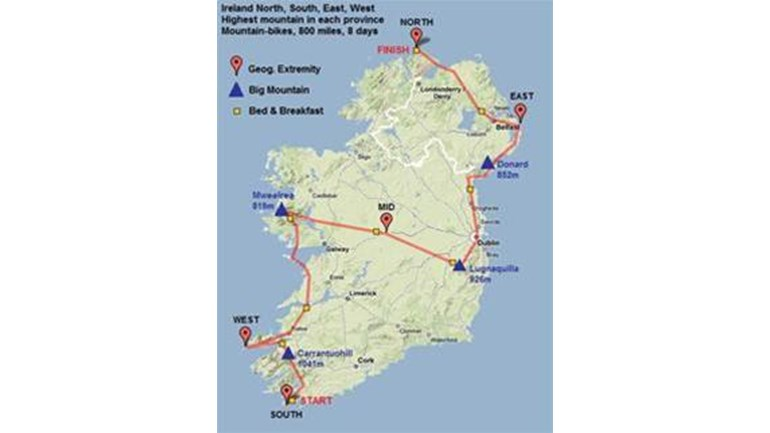 Map Of Ireland 800 Ad.Richard Mckee Is Fundraising For Northern Ireland Hospice