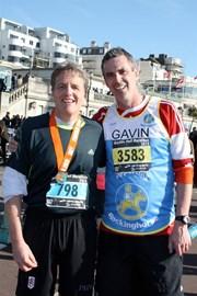 After completing Brighton Half Marathon.