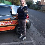 Emma Harris passed her test first time with our Driving Ahead Schem