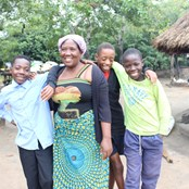 Students with their Headmistress in Namanongo