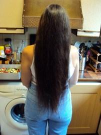 Sandie's hair before the chop!