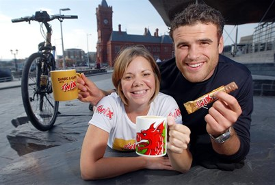 With Welsh rugby star Jamie Roberts