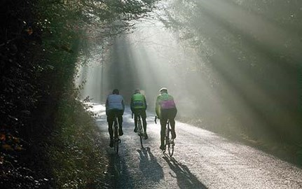 Beautiful riding in Surrey, but not much is flat!!!