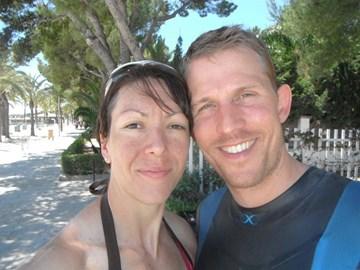 Rebecca & Nick at Mallorca Ironman 70.3