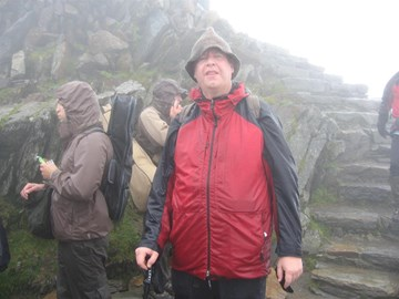 Freezing Cold, Wet but @ top of Snowdon