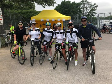 Inspired team members sponsored the Liphook cycle in 2018