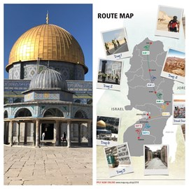 Dome of the Rock and Route map