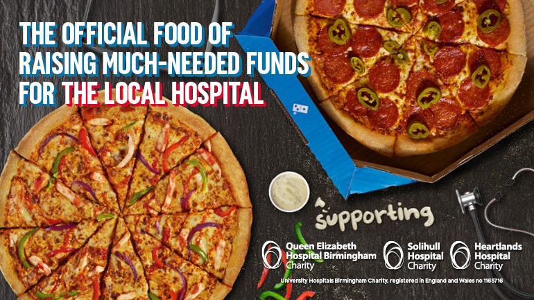 Domino s Pizza Fundraising is fundraising for Queen Elizabeth Hospital  Birmingham Charity 74e0cb664