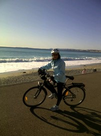 Cycle Training in Nice, France.