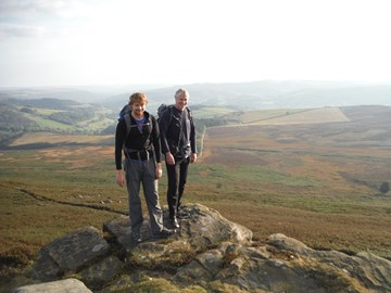 Ben and I at Stanage