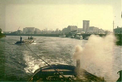 Perseverance being towed through London