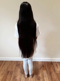 How my hair looks from the back