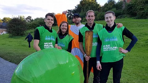 The Source team at last year's coracle race!