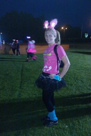 Me, waiting for the start of St Cuthbert's Hospice Midnight Walk