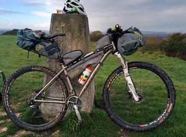 A typical bikepacking set up on my Kinesis Sync