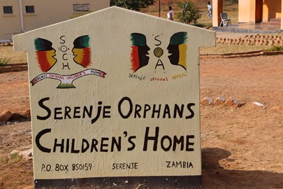 at the entrance to the SOCH orphanage