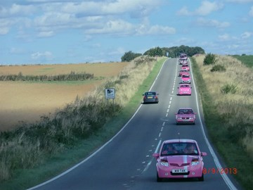Blossom leading the 2013 Pink Car Rally