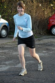 The obligatory cheesy running pic : )